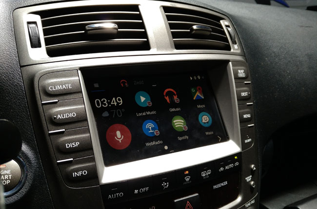 advanced car infotainment system VLine