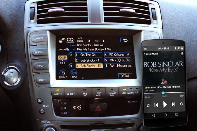 Lexus stereo DashLinQ USB connection
