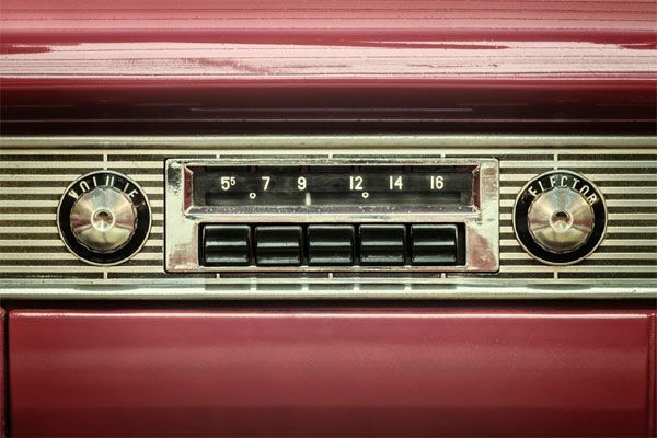 head unit of retro car stereo