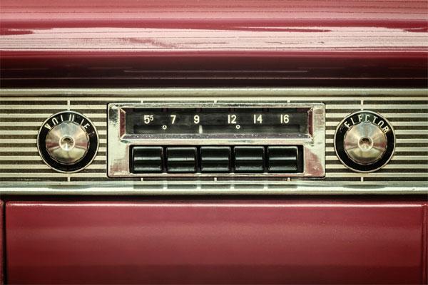 head unit of retro car stereo
