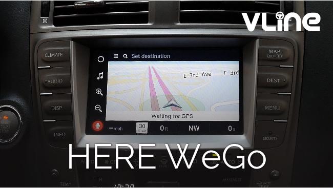 GROM Audio VLine Infotainment System Here WeGo Navigation