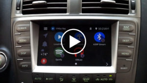 GROM Audio VLine Infotainment System Main Screen Player