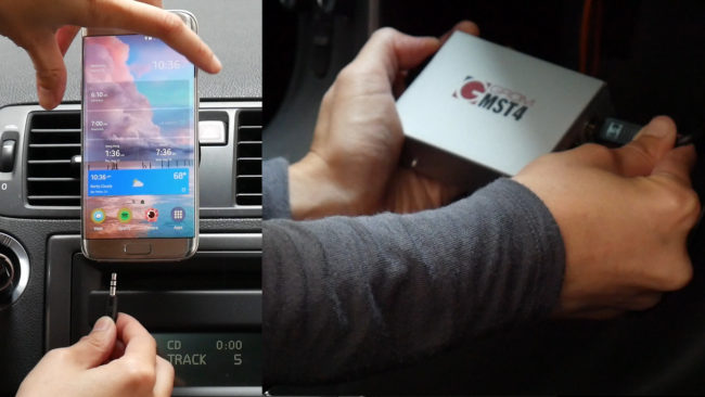 Hook up android phone to car