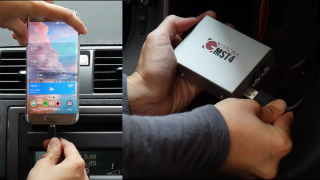 Connect Android Phone, iPhone/iPad/iPod to Car Stereo via GROM Car Kits with USB Connection