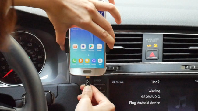 Connect Android Phone to Car Stereo via Wirelinq Smart USB converter cable