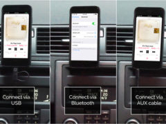 GROM Audio 3 Ways Connect iPhone to Car Stereo