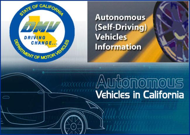 California Driverless Cars Regulations DMV