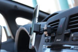 Magnetic phone holder for car air vent