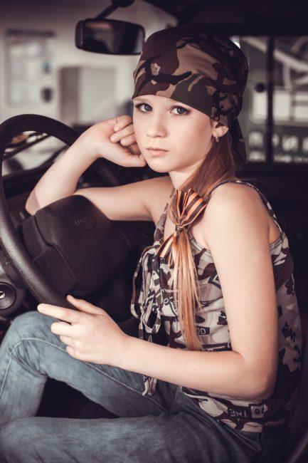 teenage girl car