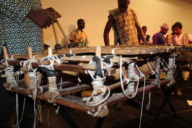 Balafon xylophone instrument African music