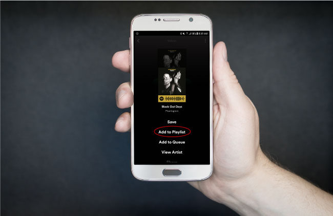 Customizing Spotify via Android phone app