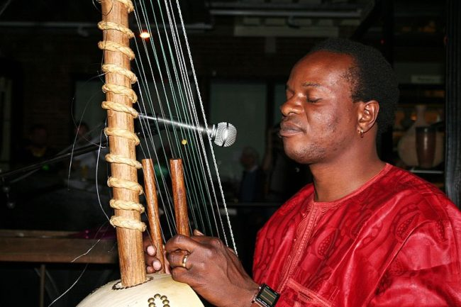 Kora string instrument African music