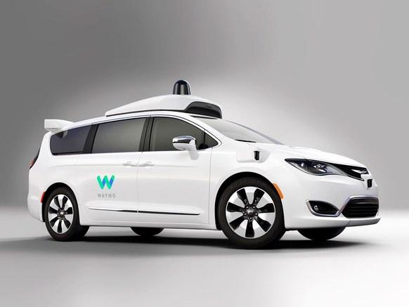 Waymo Self Driving Chrysler Minivan