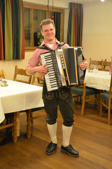 Austria music accordion player