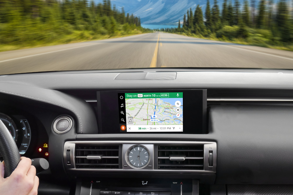 VLine with Google Maps in Lexus IS350 2015