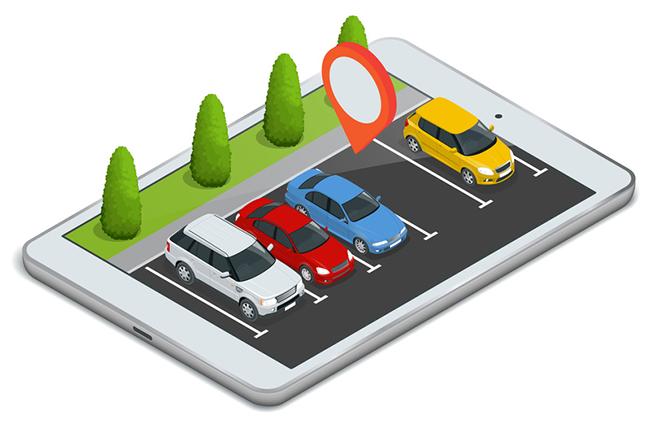 Mobile Parking App Illustration