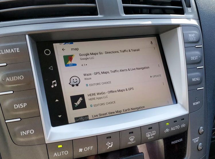 Google Waze Sygic Maps in your car - navigate and voice command