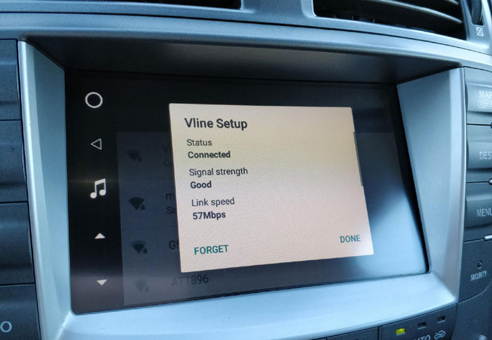 How to Set Up Wifi on VLine in your car