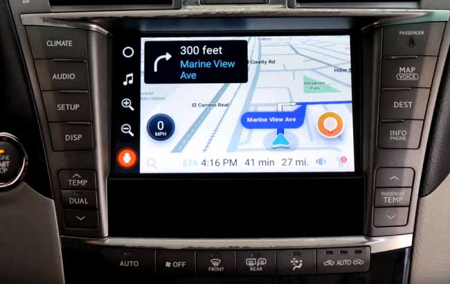 waze navigation on the car stereo