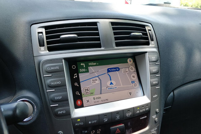 Google Maps in Lexus IS350 2006