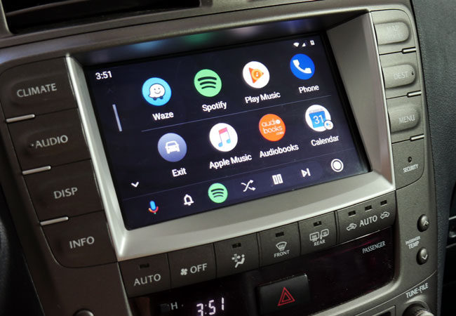 Redesigned Android Auto in Lexus with VLine