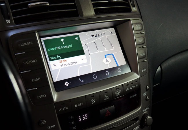 Google Maps on Android Auto in Lexus IS350