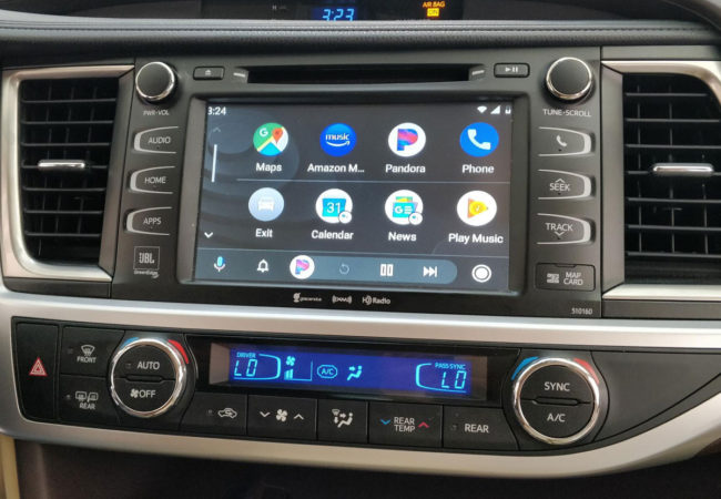 Android Auto running on Toyota stereo with VLine