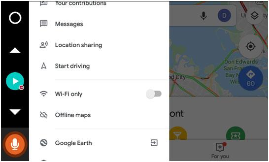 Google Maps Settings on VLine