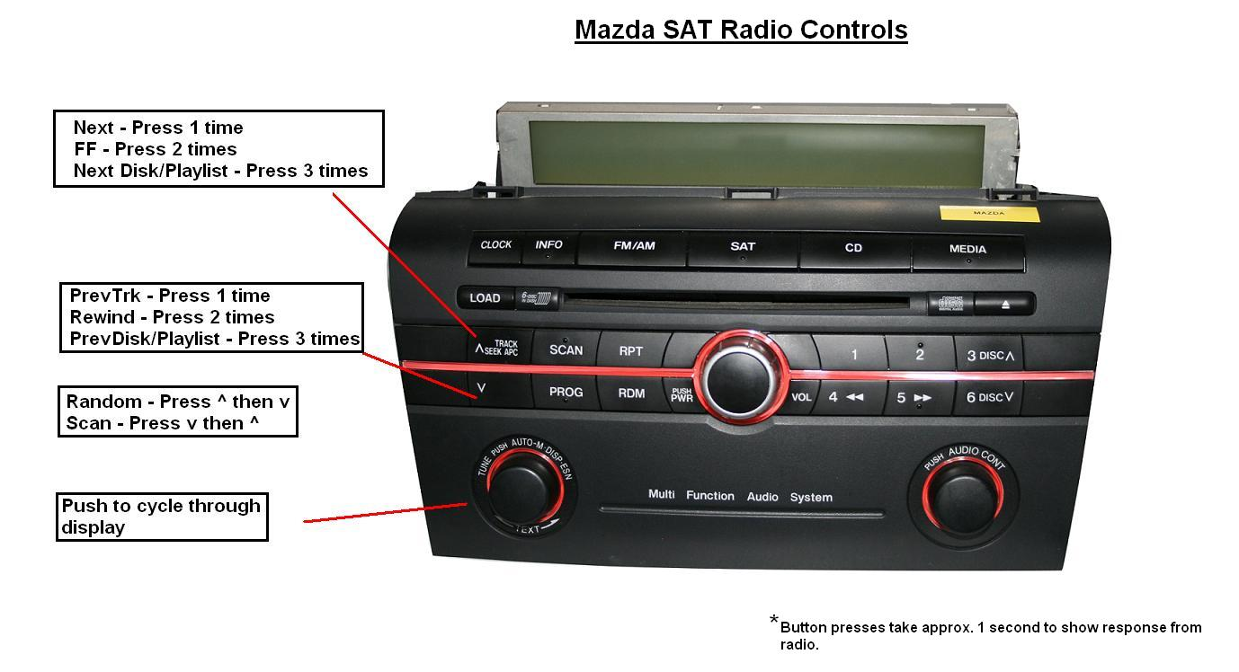 Mazda stereo wiring harness diagram