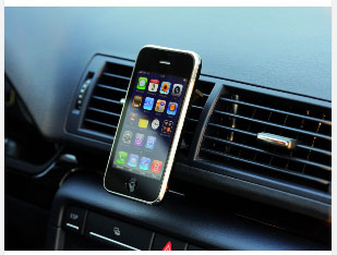 Tetrax XWAY Smartphone iPhone in car