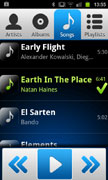 AALinQ - Android mobile in-car music mobile app - songs screen vertical