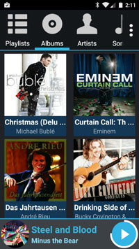 AALinQ player for Google Music - album screen