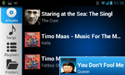 AALinQ - Android mobile in-car music mobile app - album screen horizontal