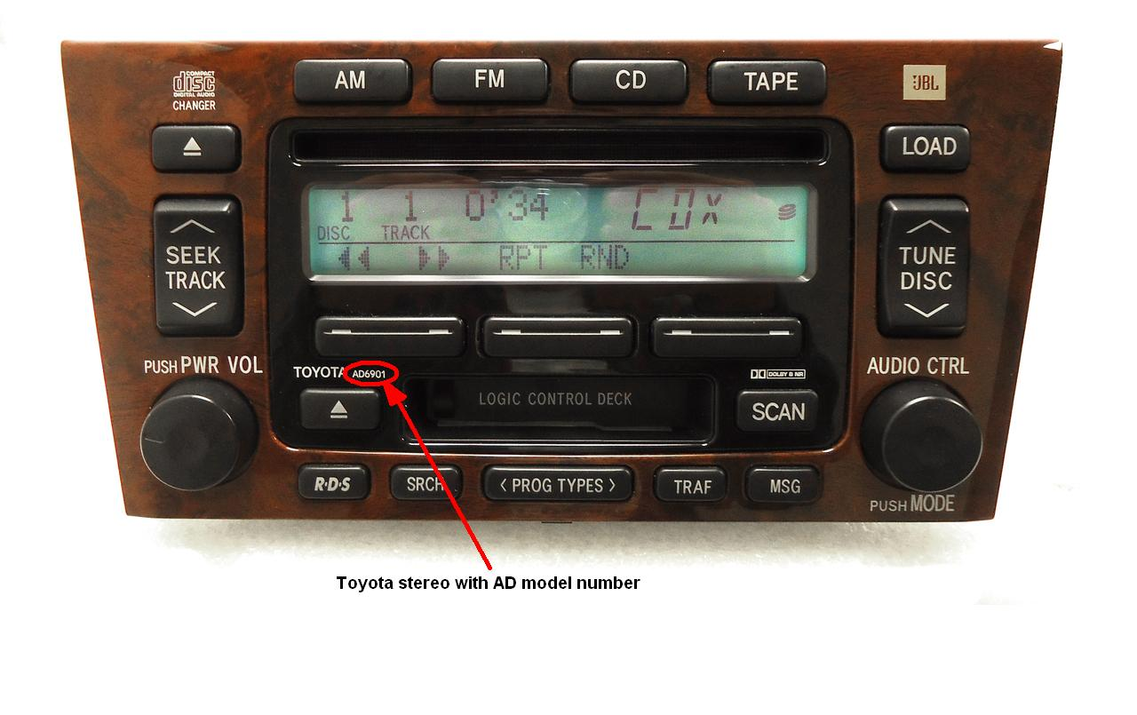 Toyota stereo model that starts with AD   requires special firmware