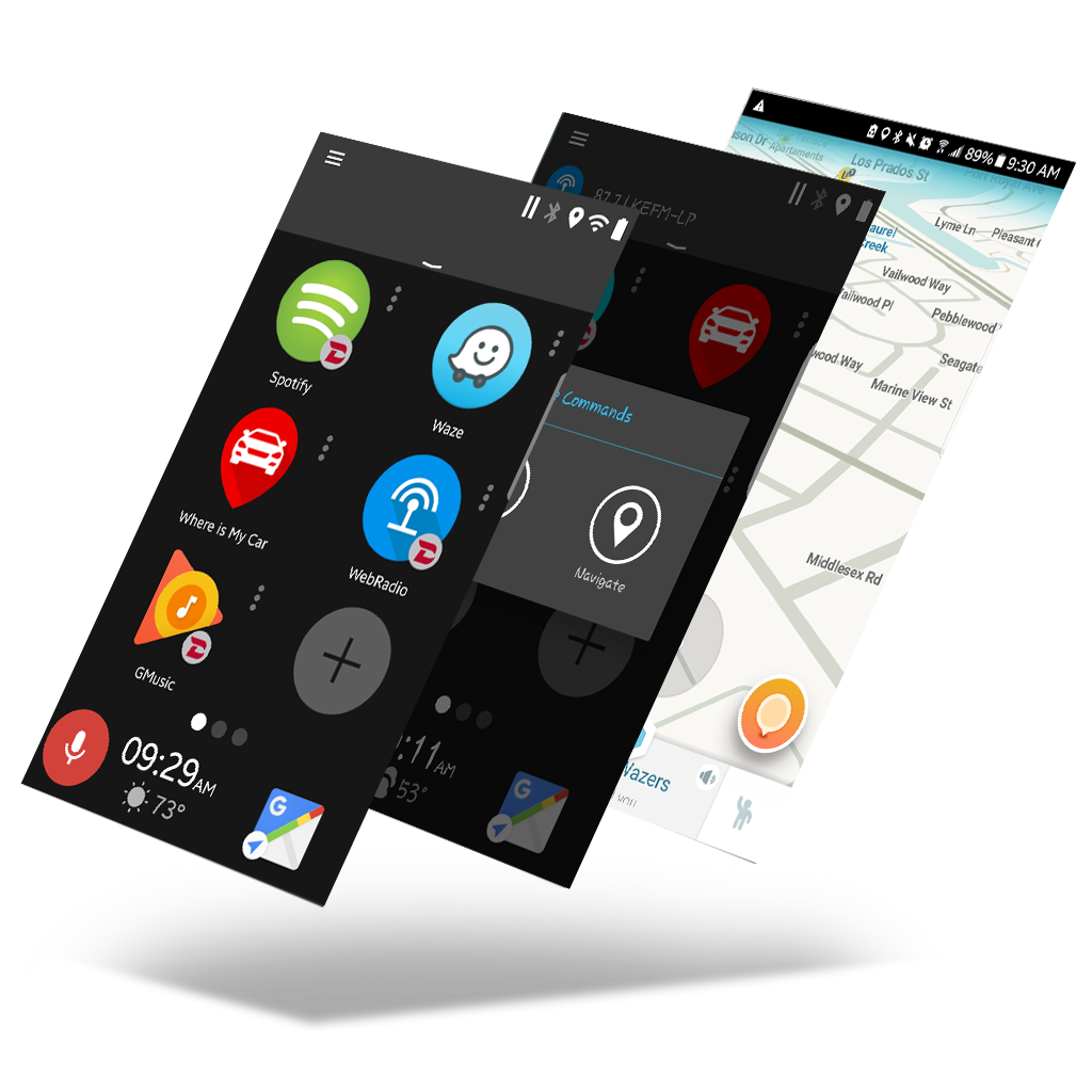 GROM Audio | DASHLINQ Android Car Mode Dashboard Navigation and