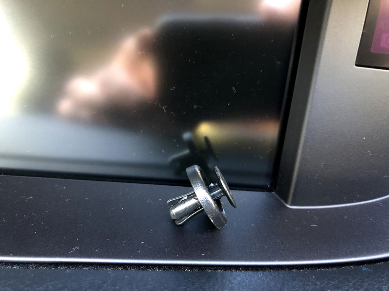 Lexus ES350 2014 display holding pin removed