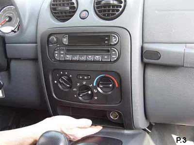 jeep liberty 2006 ipod installationlocate 4 screws at the 4 corners of the stereo