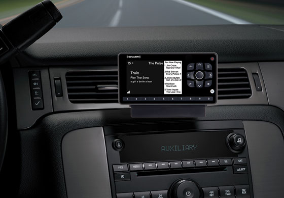 XM Receiver in car